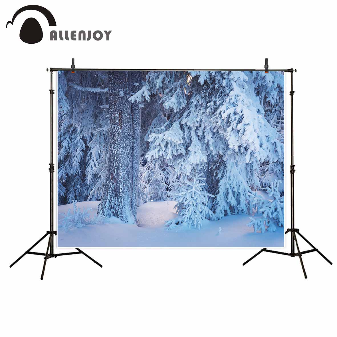 Allenjoy photography background Tree snow winter cedar life hope professional festival camera fotografica backdrop photographic