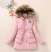 Chaquetas de invierno chaqueta de las mujeres medio-largo abajo parka tamaño 3XL outwear coat capucha wadded delgado parka acolchada chaqueta de abrigo 1698