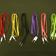 MOONBIFFY, верхняя лапша, Aux Стерео, 3,5 мм, 1 м, для автомобиля, папа-м, AUX, вспомогательный звук, стерео, аудио, кабель для передачи данных, MP3
