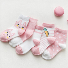 5Pairs/lot  Baby Socks for Girls Cotton Newborn Boy Toddler Clothes Accessories Infant Summer Mesh Thin