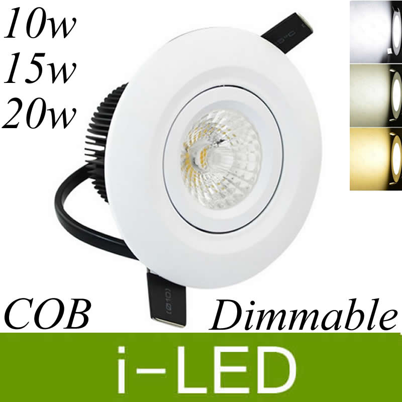20w Led Dimmable: New Arrivel COB 10w 15w 20w Led Downlights Dimmable Led
