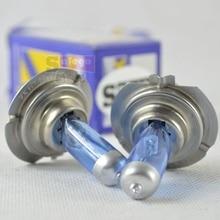 2X Hot Sale 12V 55W H7 Halogen Lamp 6000K Car Halogen Bulb Dark Blue Glass Super White FREE SHIPPING