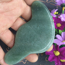 New style craved natural green Aventurine stone beauty bar accessories guasha tool for personal health care