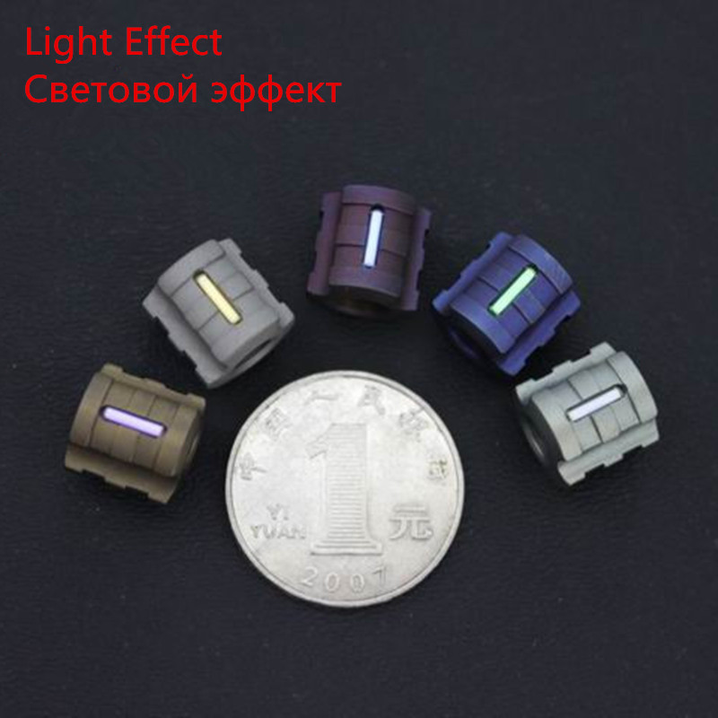 G Titanium Alloy Knife Beads Paracord With Tritium Gas Tube Knife Lanyard Rope Outdoor Parachute Cord Gadget EDC Multi Tools tungsten alloy steel woodworking router bit buddha beads ball knife beads tools fresas para cnc freze ucu wooden beads drill