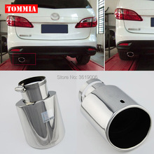 tommia High Quality T304 Stainless Steel Exhaust Muffler Tip For Mazda 5 2007-2013
