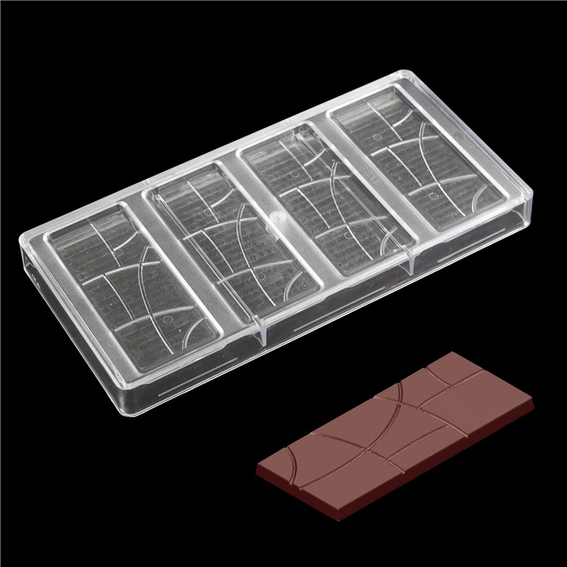 Polycarbonate Plain Bar Chocolate bar Molde Fantasia Barras de Do