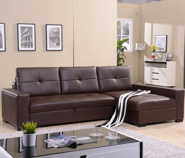 Leather Sofa Living Room Corner Multifunction Storage Simple Modern Bed In Sofas From Furniture On Aliexpress Alibaba