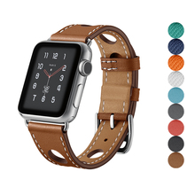 high quality Genuine Leather bracelet for apple watch band 4 42mm 38mm strap Strong and durable watchband for iwatch belt 3/2/1 недорго, оригинальная цена
