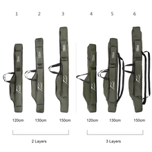 120/130/150cm Foldable Fishing Bag Outdoor Canvas Waterproof Fishing Rod Carrier Pouch Fish Pole Reel Lure Storage Bags Pesca