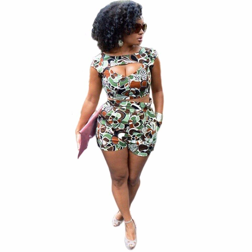 Heyouthoney Fashion Summer Women Sexy Club Camouflage -2767