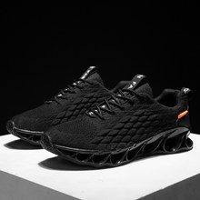 2019 Fashion Male Tennis Shoes Breathable Mesh Shock Blade Sneakers Fitness Gym Jogging Men Sport Shoes Tenis Masculino Adulto(China)