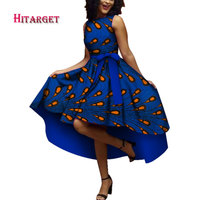 Hitarget 2019 African Dresses for Women Dashiki ankara Wax Cotton fabric Batik Sexy Dress for Femal Traditional clothing WY4361