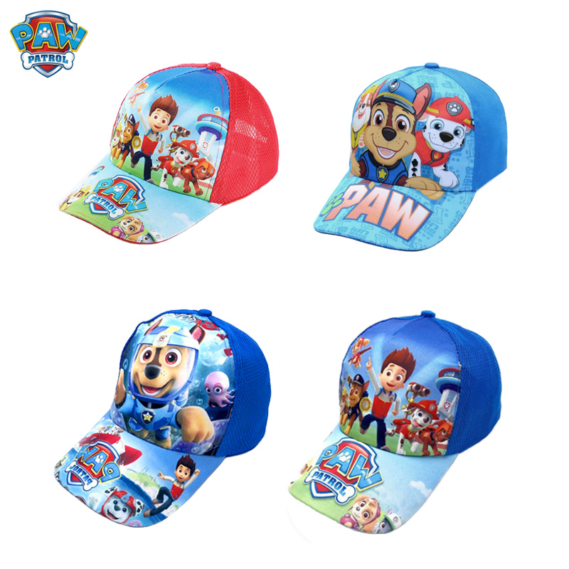 2019 Paw Patrol Hat Headdress Sunhat Breathable Summer Baseball Cap Lovely 2-10 Years Patrulla Canina Anime Action Figures Gift