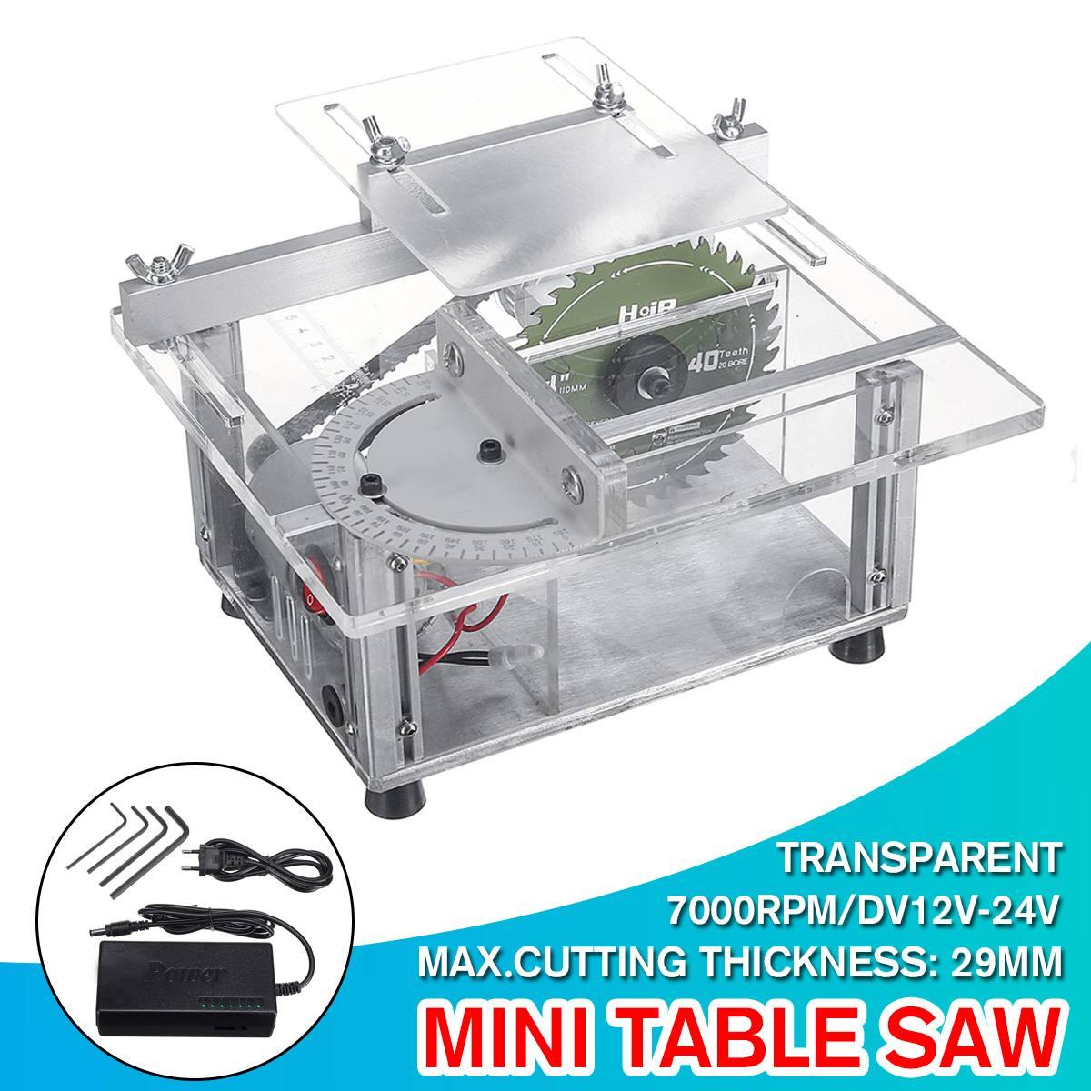 Portable 7000 tr/min Mini Table scie à la main à bois banc scie bricolage passe-temps modèle artisanat outil de coupe avec alimentation