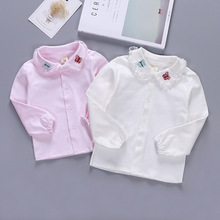 Baby Blouse Cardigan Shirt Newborn Girl Toddler Cotton Bebe Tops Embroidery Lace Butterfly
