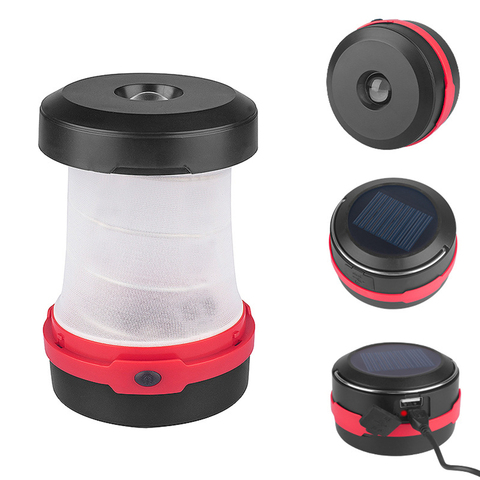 Portable Solar LED Camping Lantern USB Rechargeable Collapsible Camping Light for Outdoor Hiking with 18650 battery 1200mAh Islamabad