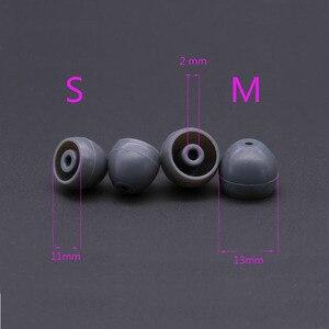 Image 2 - 2 pçs/1 pares de silicone in ear capas de fone de ouvido para shure earbud almofadas de ouvido tampas dicas fone de ouvido eartips earplug almofada fone de ouvido