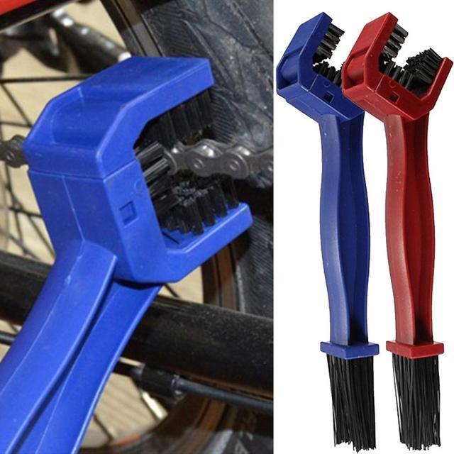 Пластик Велоспорт Мотоцикл Велосипедный спорт Цепи Чистый щеточное устройство гранж кисточки очиститель открытый чище скруббер инструмент