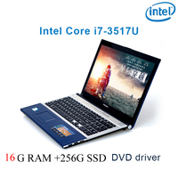 P8 26 black 16G RAM 256G SSD i7 3517u 15.6 gaming laptop DVD driver keyboard and OS language available for choose