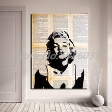 Black And White Marilyn Monroe Stencil Canvas Painting Print Living Room Home Decor Modern Wall Art Oil Poster Artwork