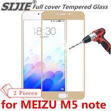 2 шт Полное покрытие из закаленного стекла для MEIZU M5 note M5note Charm Blue note5, защитный экран для телефона, закаленное стекло на краях рамки