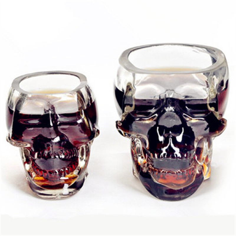 New Arrival Creative Cup Crystal Skull Vodka Wine Bottle Beer Pirates Glass wine glass whiskey glass champagne glasses