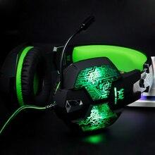 Gamer Gaming Headset Juego de Auriculares de Juegos de Auriculares de 3.5mm Estéreo Cancelación de Ruido Auriculares Con Micrófono Mic Para El Ordenador PC