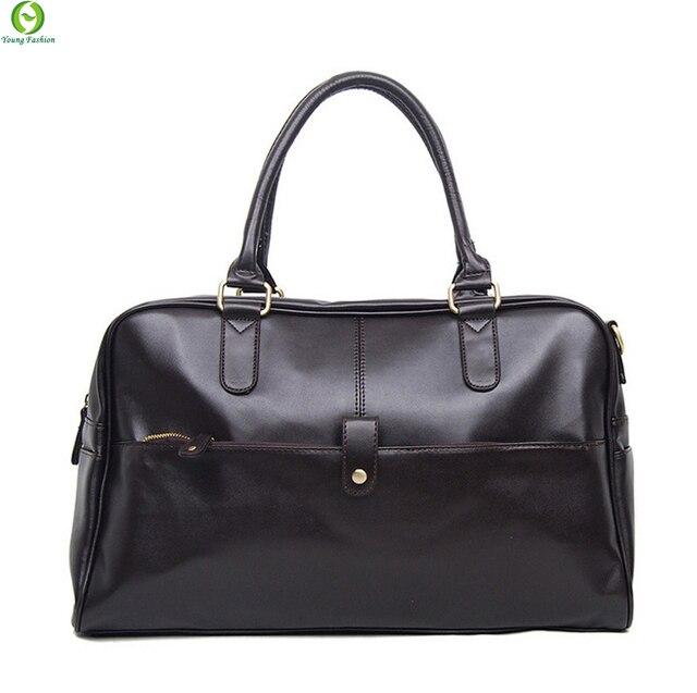 Мужчины дорожная сумка бренд кожи человека мешок Многофункциональные мужчины портфель Жирной кожи мужчины сумки посыльного плеча сумку