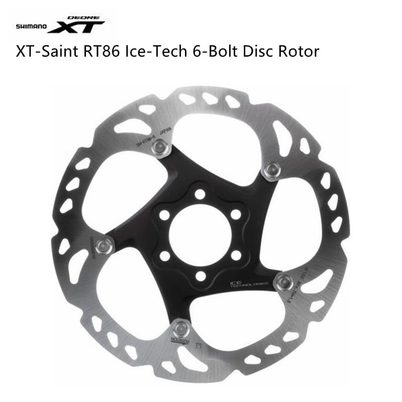 New Shimano Deore XT Saint SM-RT86 6-bolt Disc Brake Ice Tech Rotor 160mm 180mm