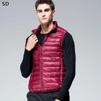 Sleeveless Jacket for Men 90% white duck down men vest winter Jackets plus size Down Vest mens outdoors vest Dropshipping 581
