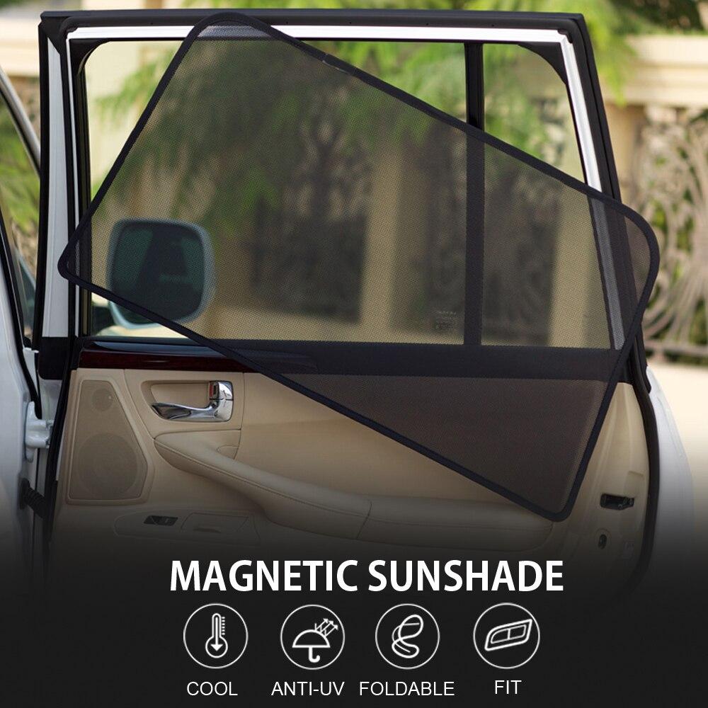 2 pcs 2 Pcs Magnetic Car Front Side Window Sunshade For Jeep GRAND-CHEROKEE SAHARA COMPASS CHEROKEE RENEGADE COMMANDER (3)