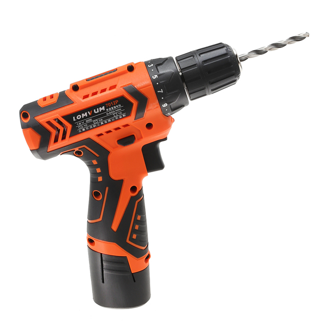 LOMVUM 12V Electric Drill Screwdriver Power dremel Tool Rechargeable Cordless drills Lithium-Ion Battery Screw Rotary Tool  3