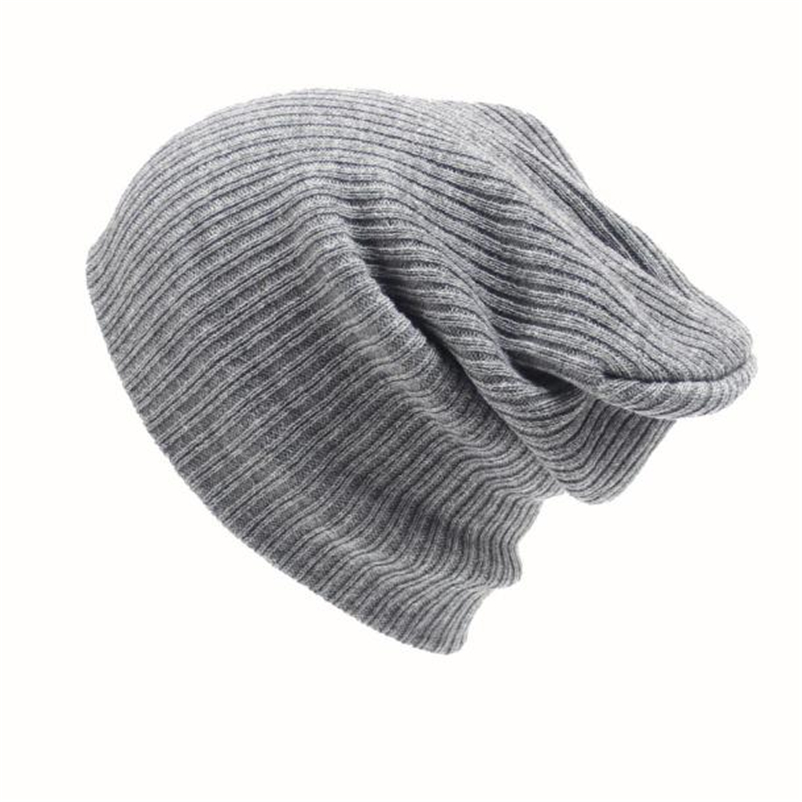 New Men's Women Beanie Knit Ski Cap Hip-Hop Winter Warm Unisex Wool Hat Solid Simple For Male Casual Free Shipping