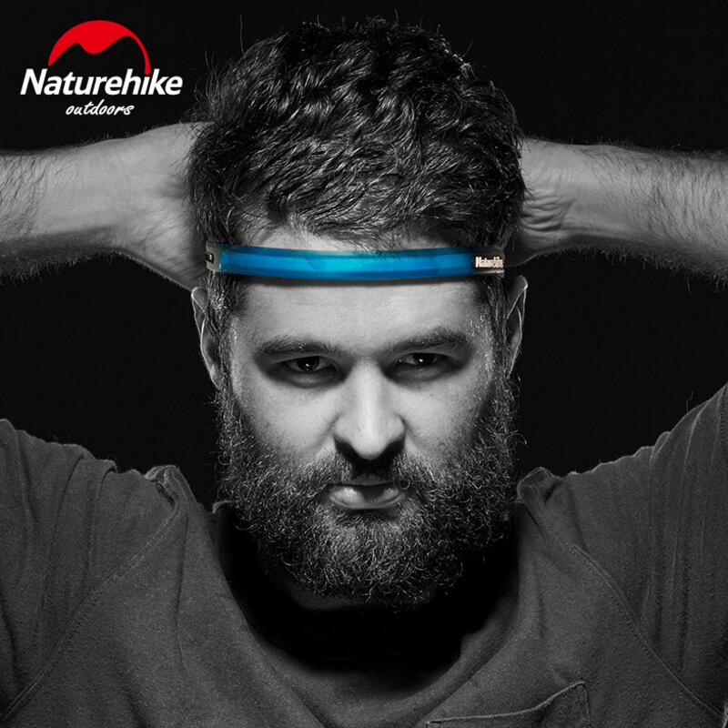 Naturehike Sweat Absorbing Headband Silicone Breathable Sweatband Men Women Sports Running Fitness Head Hair Band 52-62cm