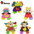 HOT Sozzy Baby Infant Soft Appease Toys Towel Playmate Calm Doll Teether Developmental Toy Lion Dog Monkey Owl