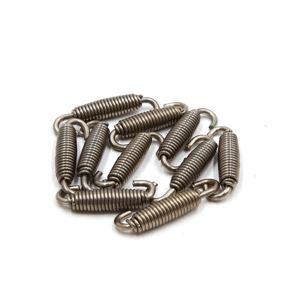 uxcell/® 10pcs Silver Tone Motorcycle Exhaust Pipe Silencer Muffler Springs Swivel Hooks