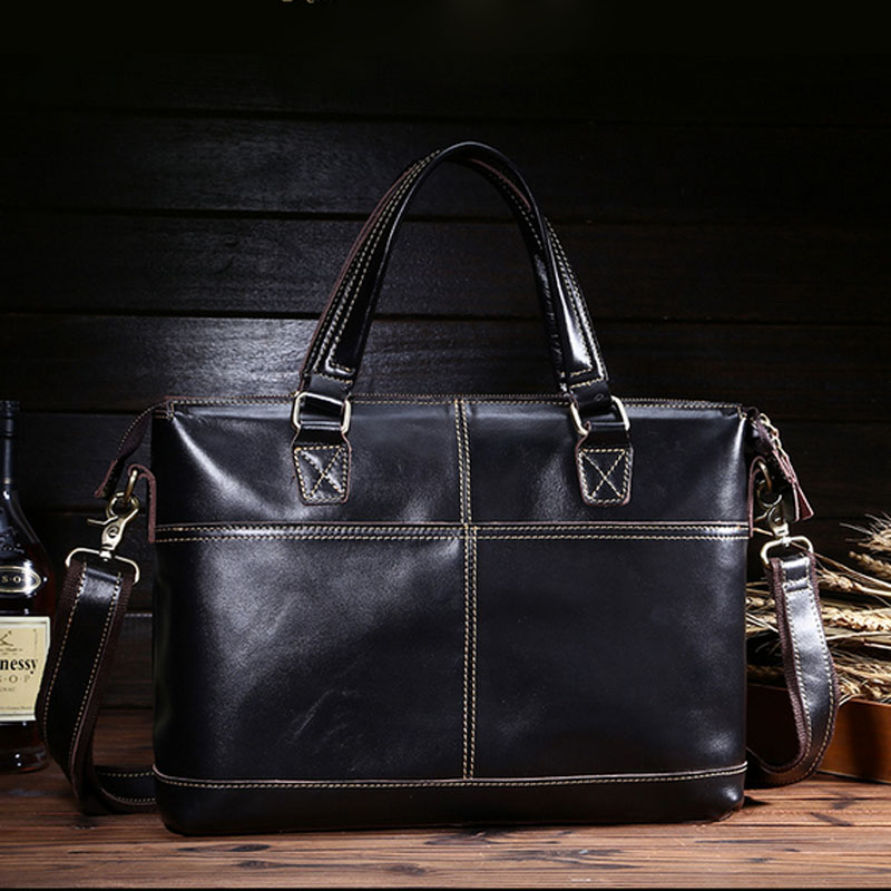 BULLCAPTAIN New Men Genuine Leather Cross Body famous brand Business Briefcase Shoulder Bag Messenger Bags Laptop Tote Handbag sweet years sy 6187l 14