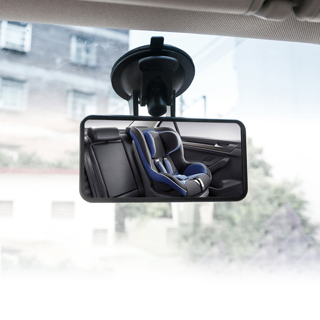 Car Interior Rear View Mirror Suction Cup Wide Angle Interior Rearview Mirror Large Vision Flat Mirror Car Accessories 2