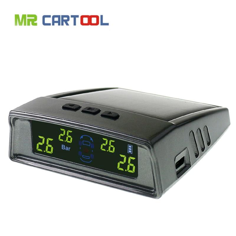 New Arrival TPMS Tyre Pressure Monitoring Intelligent System 4 Internal Sensors Solar Energy Tire Pressure Alarm Diagnostic-tool