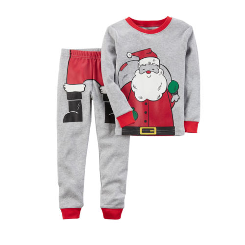 Hot Sale Lucky child Kids Baby Boys Xmas Santa Pjs Pyjamas Sleepwear Age 0-6Year Clothing Set