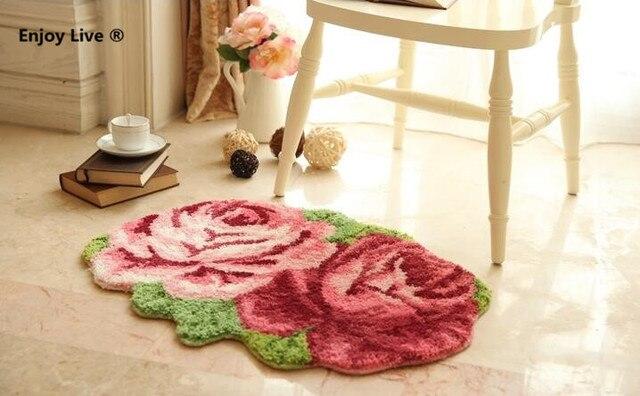 Tappeto Da Salotto Rosa : Forma di fiore romantico camera tappetini d rosa tappeti per