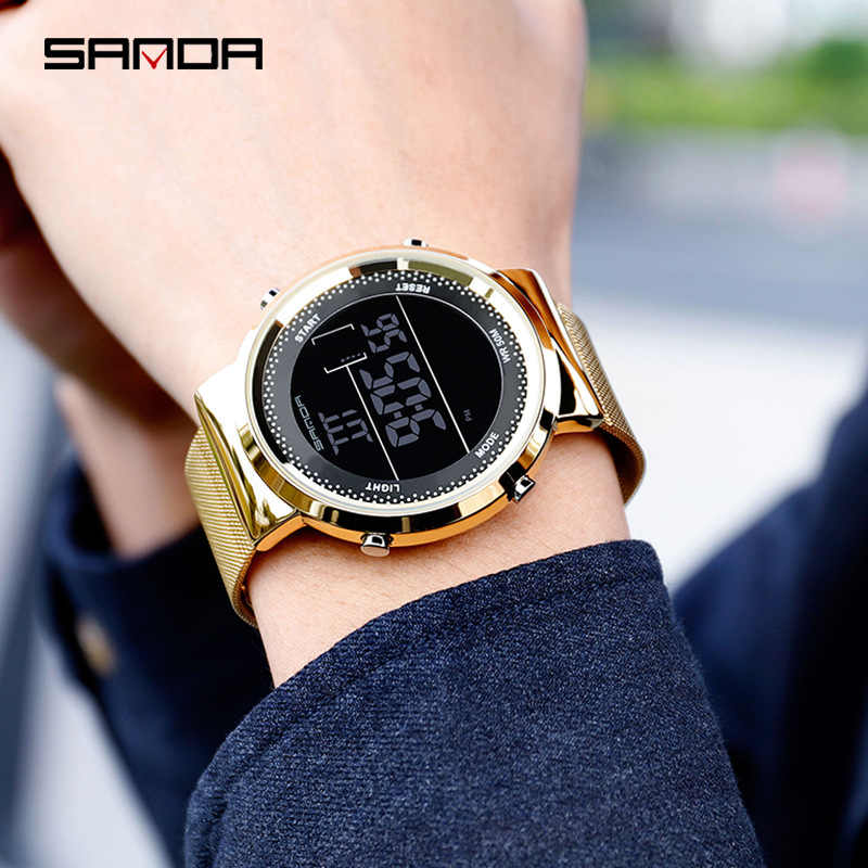 Relogio feiminio דיגיטלי שעון נשים יוקרה עלה זהב נשים גברים ספורט שעונים LED אלקטרוני שעון יד עמיד למים reloj mujer