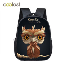 12 Inch Girls School Bags Female Animal Kids Baby Bag Toddlers 3D Owl Backpack for Children Cartoon Kindergarten Bags for Girls