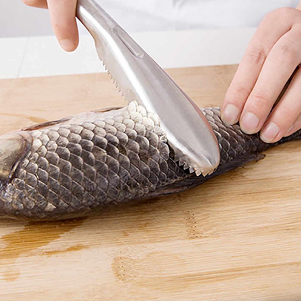 In Acciaio Inox di Pesce Bilancia Remover Cleaner Bilancia r Raschietto Cucina Peeler Tool NUOVO ARRIVATO #20190125