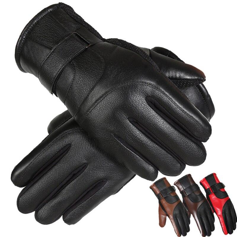 Winter Gloves Men Thicken Warm Cashmere Thermal Mittens Gants Homme Touching Screen Gloves Anti Slip Snowboard Mittens Men Novel (In) Design;