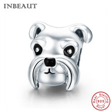 INBEAUT Women Charm Bracelet 925 Sterling Silver Naughty Royal Schnauzer Dog Beads Pendant for Necklace&Chain S925 Accessories