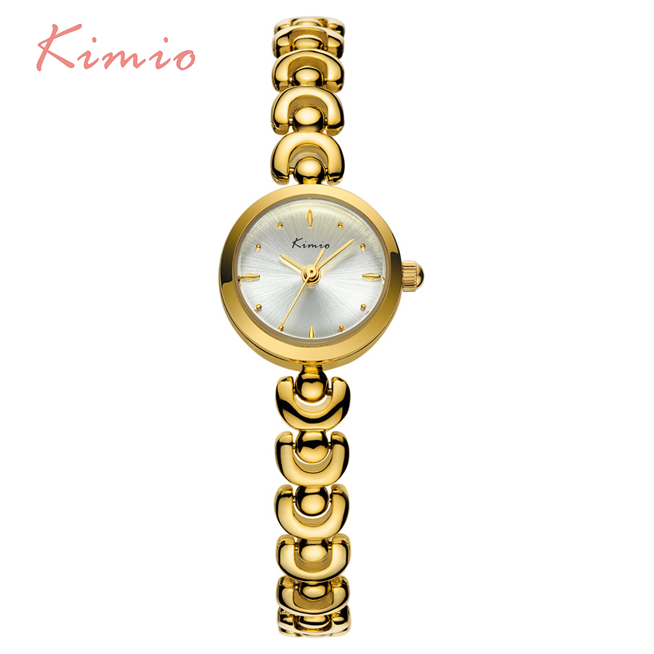 KIMIO Unique U Bracelet Strap Small Round Dial Woman Watches 2017 Brand Luxury Fashion Quartz Gold Whatch Women Wristwatch Clock kimio brand bracelet watches women reloj mujer luxury rose gold business casual ladies digital dial clock quartz wristwatch hot