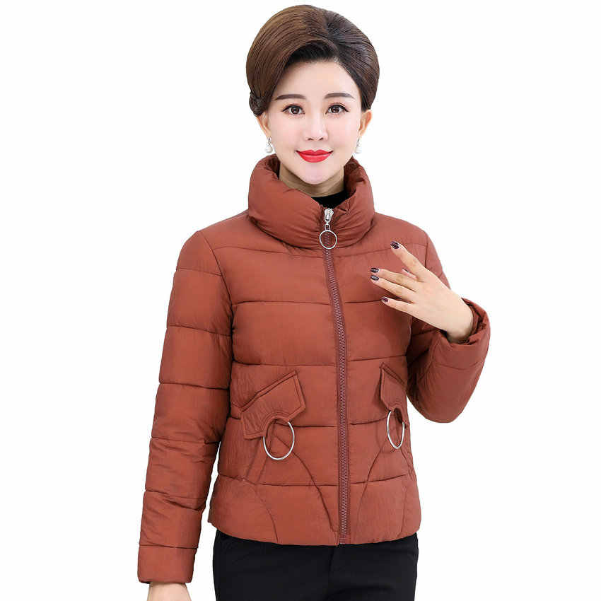 e6b23a28825 Fashion Woman Short Puffer Jacket Lightweight Basic Coat Women Stand Collar Puff  Outerwear Lady Winter Quilted