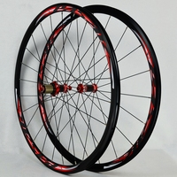 Road Bike 700C Bicycle Carbon Fiber V C Brake Wheel Straight Pull 30MM Rim Wheelset