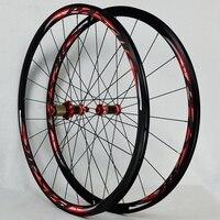 Road Bike 700C Bicycle Carbon Fiber V C Brake Wheel Straight Pull 30MM Rim Wheelset
